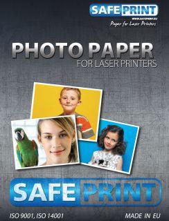 Papír Safeprint foto pro laserové tiskárny A4 lesklý, 135 g/m2, 10ks