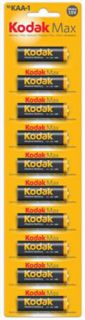 Baterie Kodak KAA-1 Alkaline Max balení 10 ks, tužkové