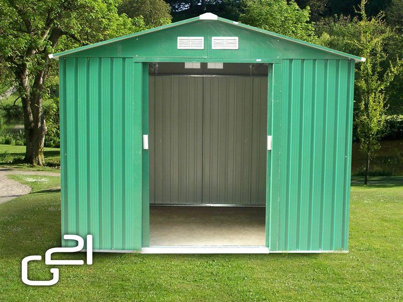 Záhradný domček G21 GAH 429 - 251 x 171 cm, zelený