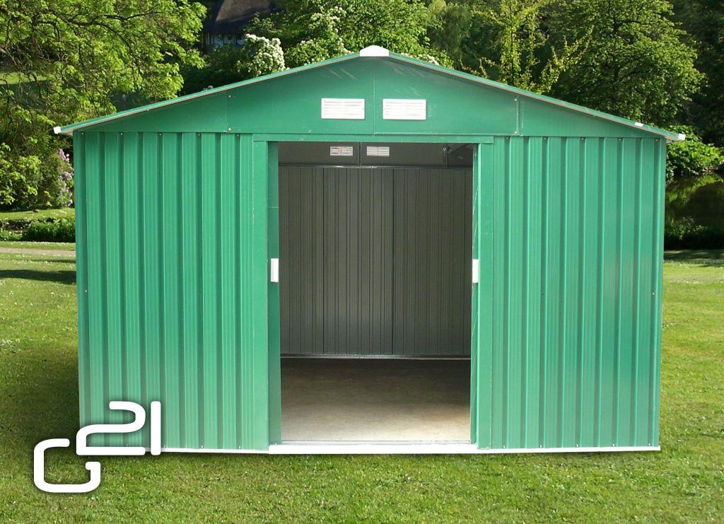 Záhradný domček G21 GAH 1092 - 311 x 351 cm, zelený