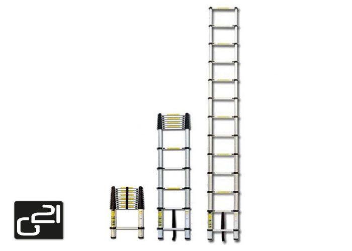 Teleskopický rebrík G21 GA-TZ13 -3,8M Hliníkový