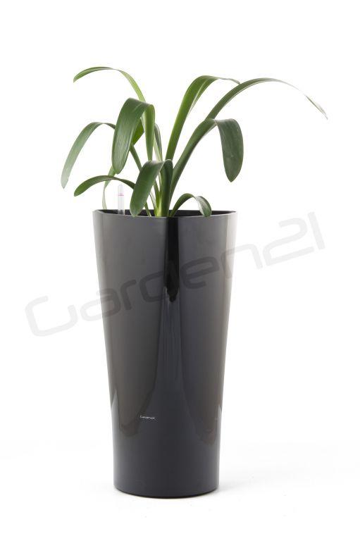 Samozavlažovací kvetináč G21 Trio čierny 29,5cm