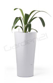 Samozavlažovací kvetináč G21 Trio biely 29,5cm