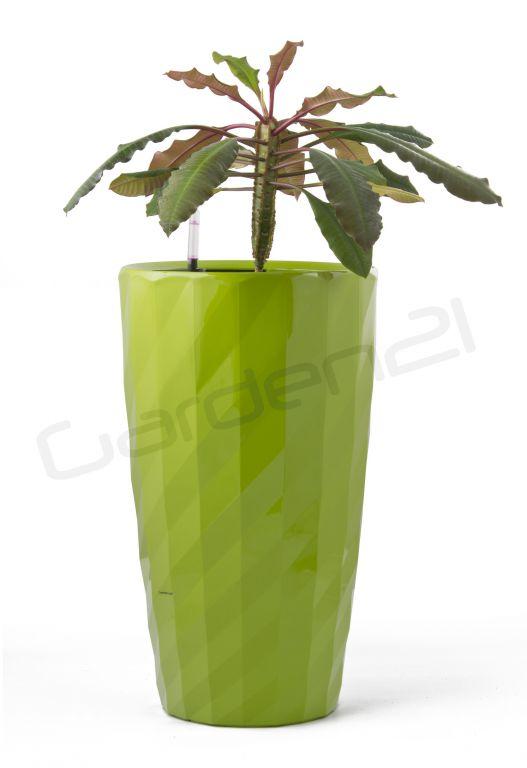 Samozavlažovací kvetináč G21 Diamant zelený 33cm