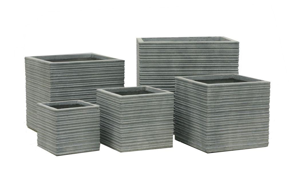 Kvetináč G21 Stone Cube 30x30x28,5cm