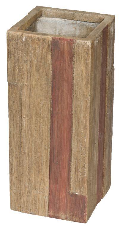Květináč G21 Wood Tube dark 26x26x60cm