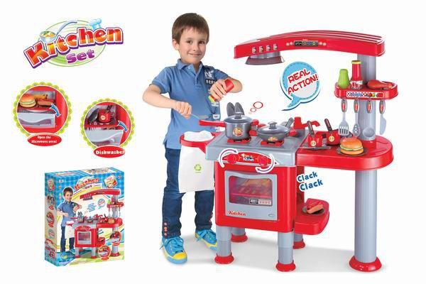 G21 kuchynka veľká s príslušenstvom červená 008-83