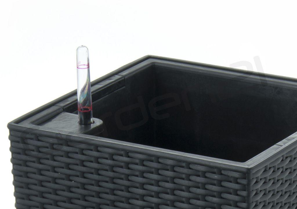 Samozavlažovací květináč G21 Linea ratan černý 55cm