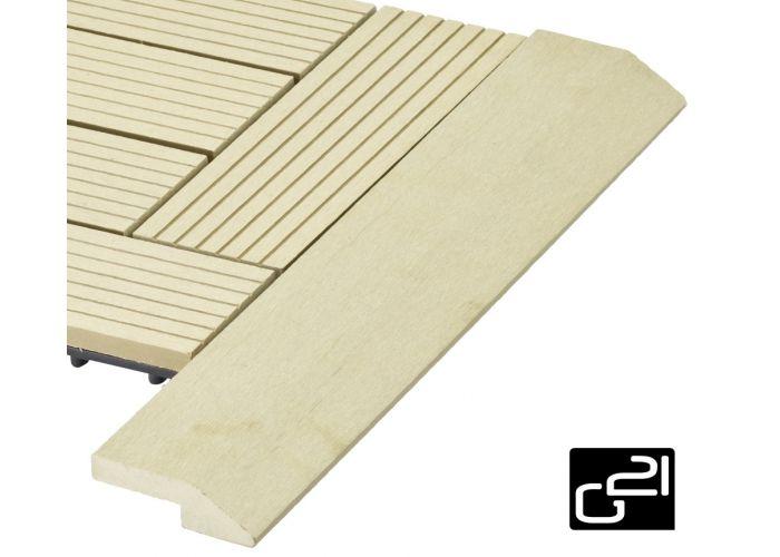 Prechodová lišta G21 pre WPC dlaždice cumaru 38,5x75 cm rohová