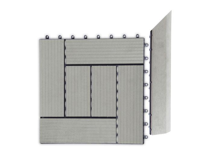 Prechodová lišta G21 pre WPC dlaždice Incana 38,5x75 cm rohová (pravá)