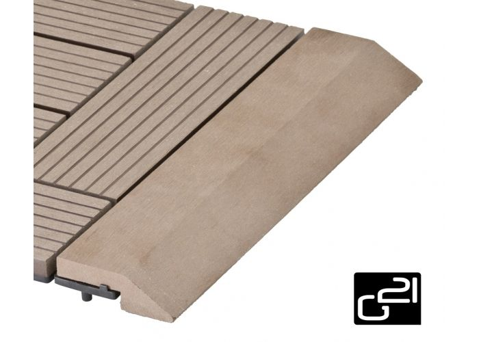 Prechodová lišta G21 pre WPC dlaždice indický tík 30x75 cm rovná