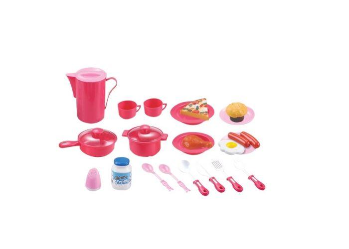 Hračka G21 detske riady plastové ružové 39ks