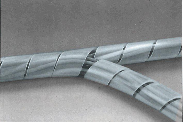Páska špirálová k organizácii kabeláže 15-100mm 10m ČÍRA