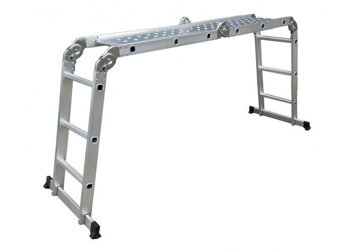 Hliníkové rebríky G21 GA-SZ-4x3-3,7M multifunkčné + podlaha