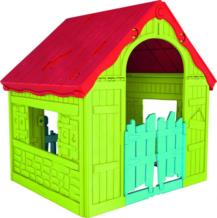Keter záhradný detský domček - plastový, zeleno-červený