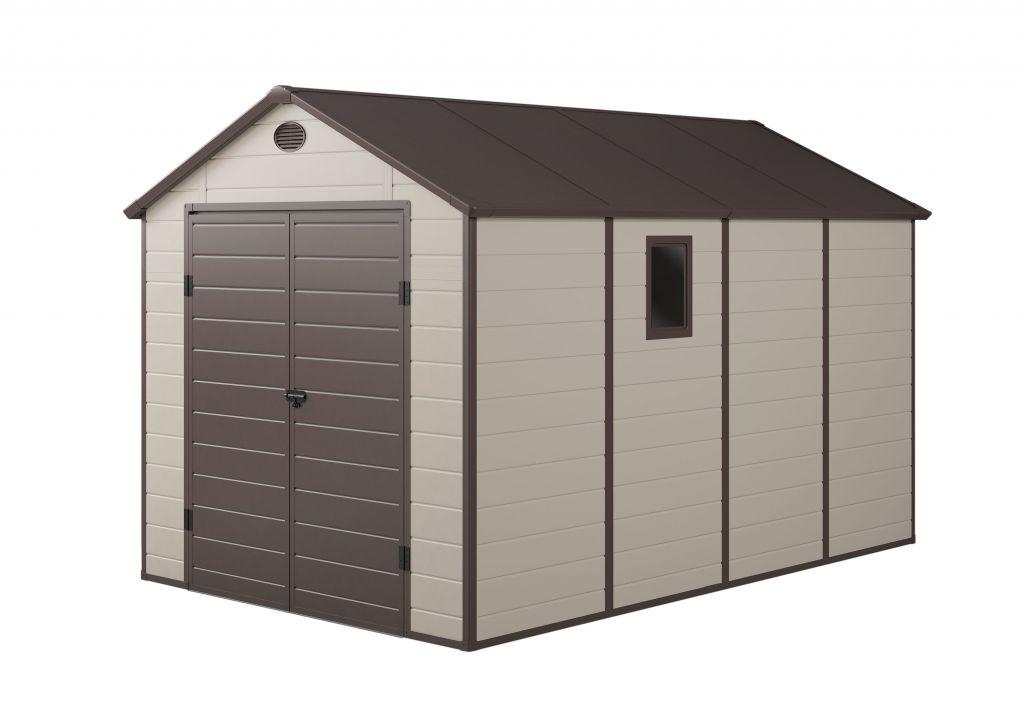 G21 Záhradný plastový domček PAH 882 - 241 x 366 cm, béžový