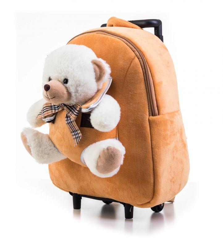 Batoh s plyšovým medvedíkom 2v1, hnedý