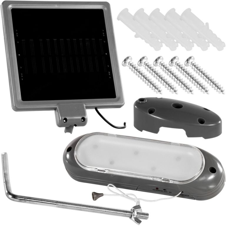 Záhradné LED Solárne nástenné svietidlo Garth 5 LED diód