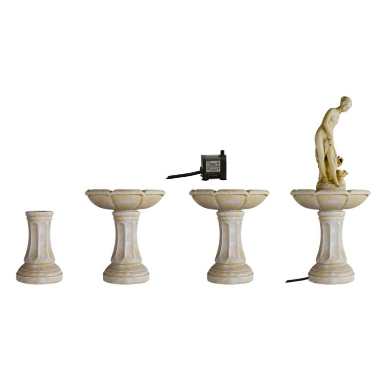 Záhradná fontána - fontána vtáči kúpeľ v barokovom štýle