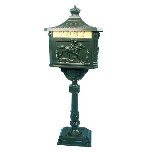 Ozdobná poštová schránka - olivovo zelená