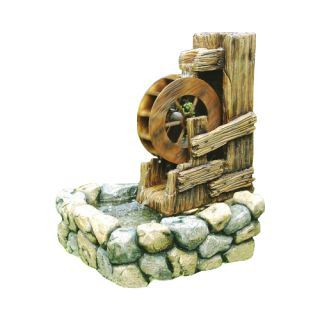 Záhradná fontána - fontána vodné koleso