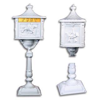 Ozdobná poštová schránka - biela