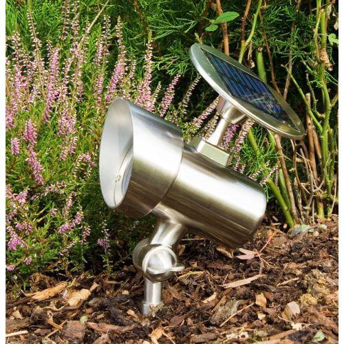 Solárna záhradná lampa Garth reflektor 15 x 11,5 x 22 cm