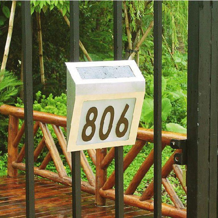 Solárne záhradné domové číslo s LED osvetlením