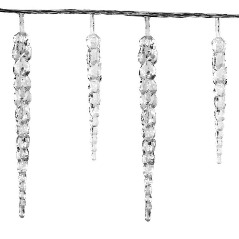 Vianočné dekoratívne osvetlenie - cencúle - 40 LED studená biela