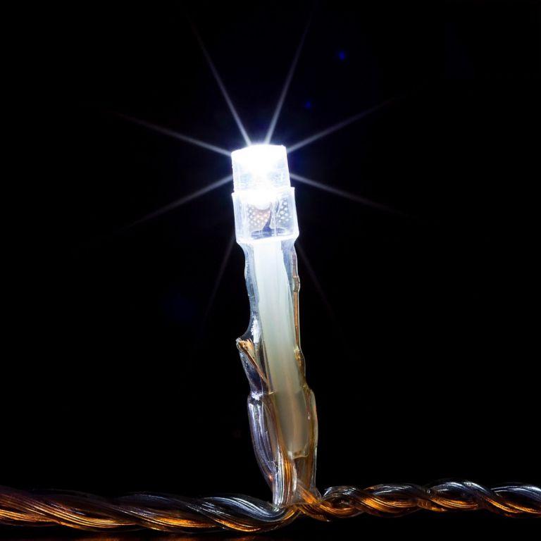 Vianočné LED osvetlenie 20 m - studená biela 200 LED