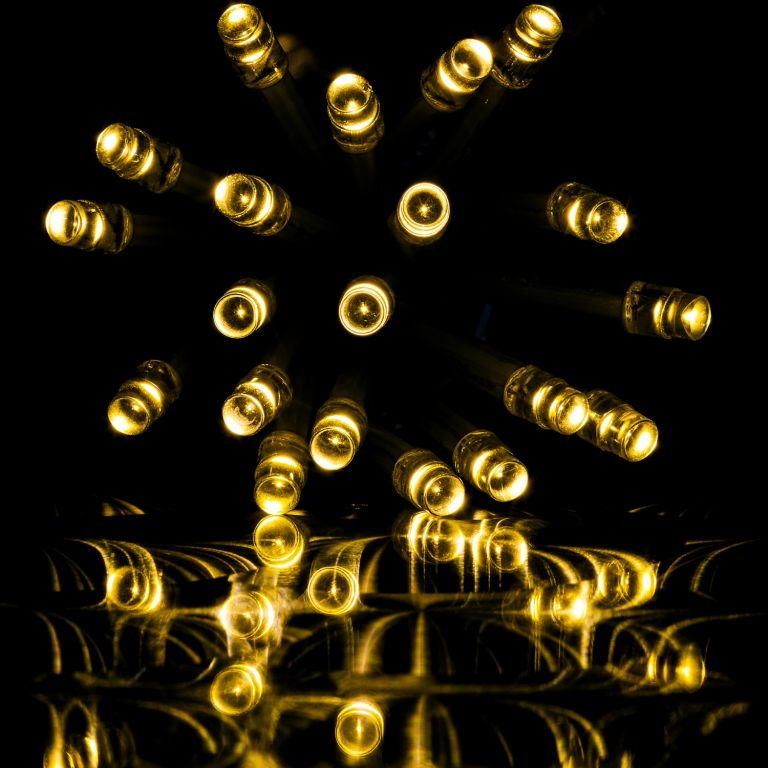 Vianočný svetelný dážď 200 LED teplá biela - 5 m