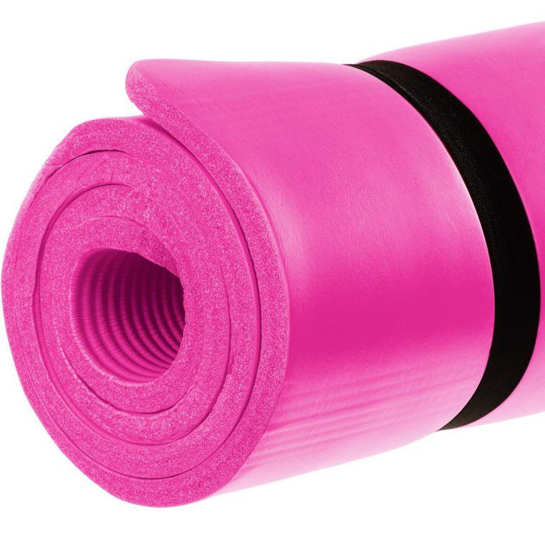 Podložka na jógu 190 x 60 x 1,5 cm, ružová