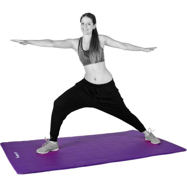 Podložka na jógu 190 x 60 x 1,5 cm, fialová