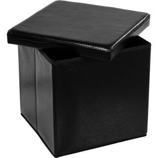 Taburet s úložným priestorom, čierny