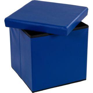Taburetka s úložným priestorom modrá