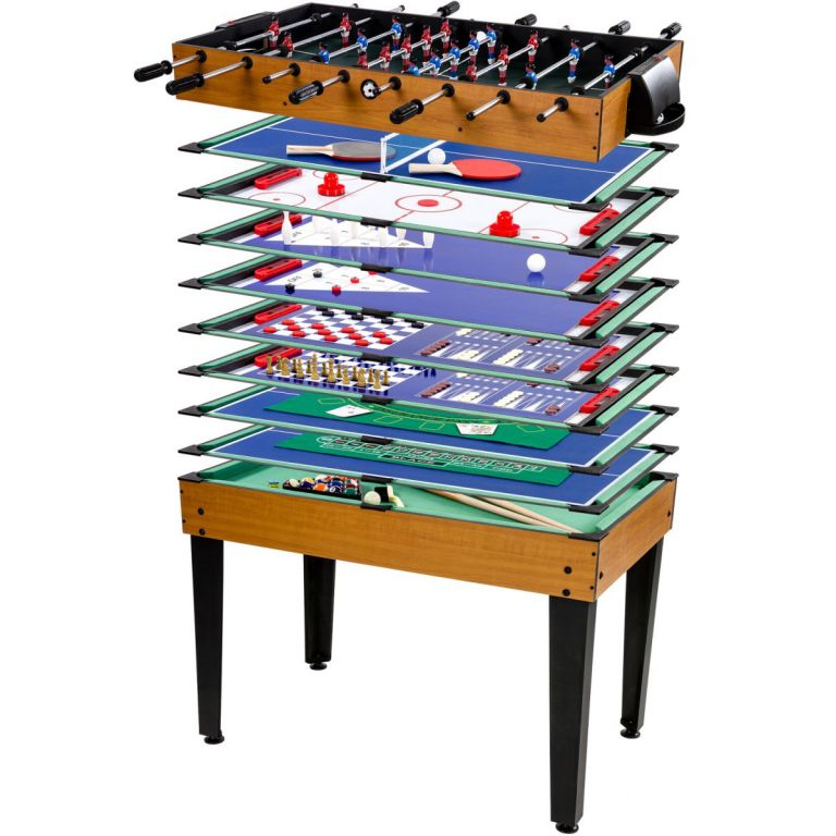 Multifunkčný herný stôl 15 v 1 - hnedý