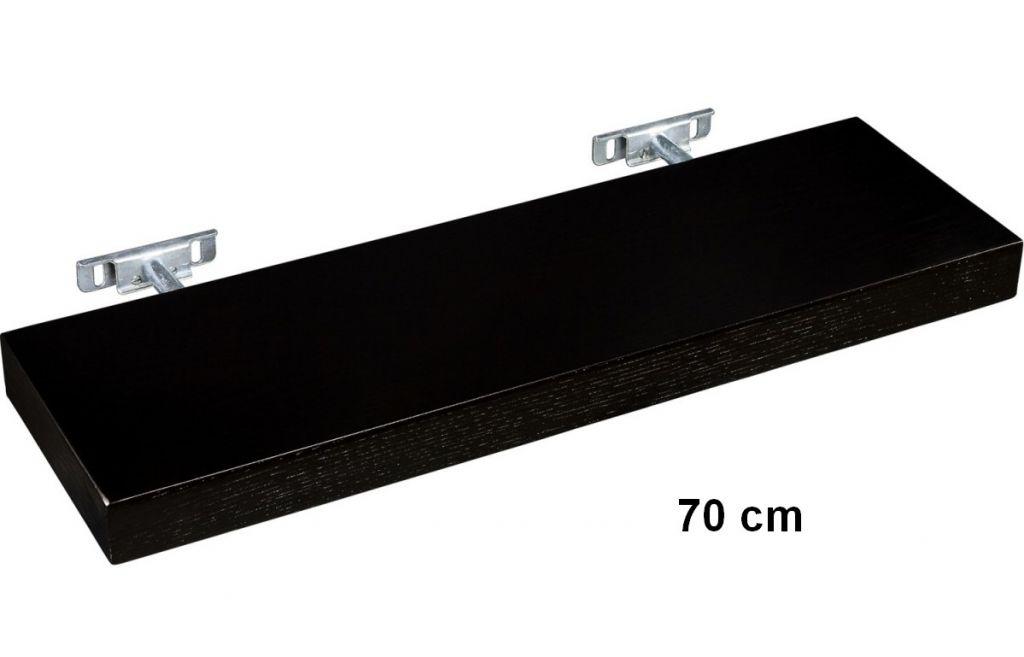 Nástenná polica STILISTA SALIENTO - hnedočierna 70 cm