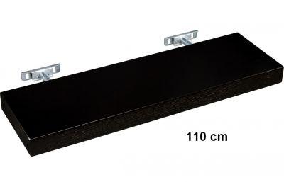 Nástěnná police STILISTA SALIENTO - hnědočerná 110 cm