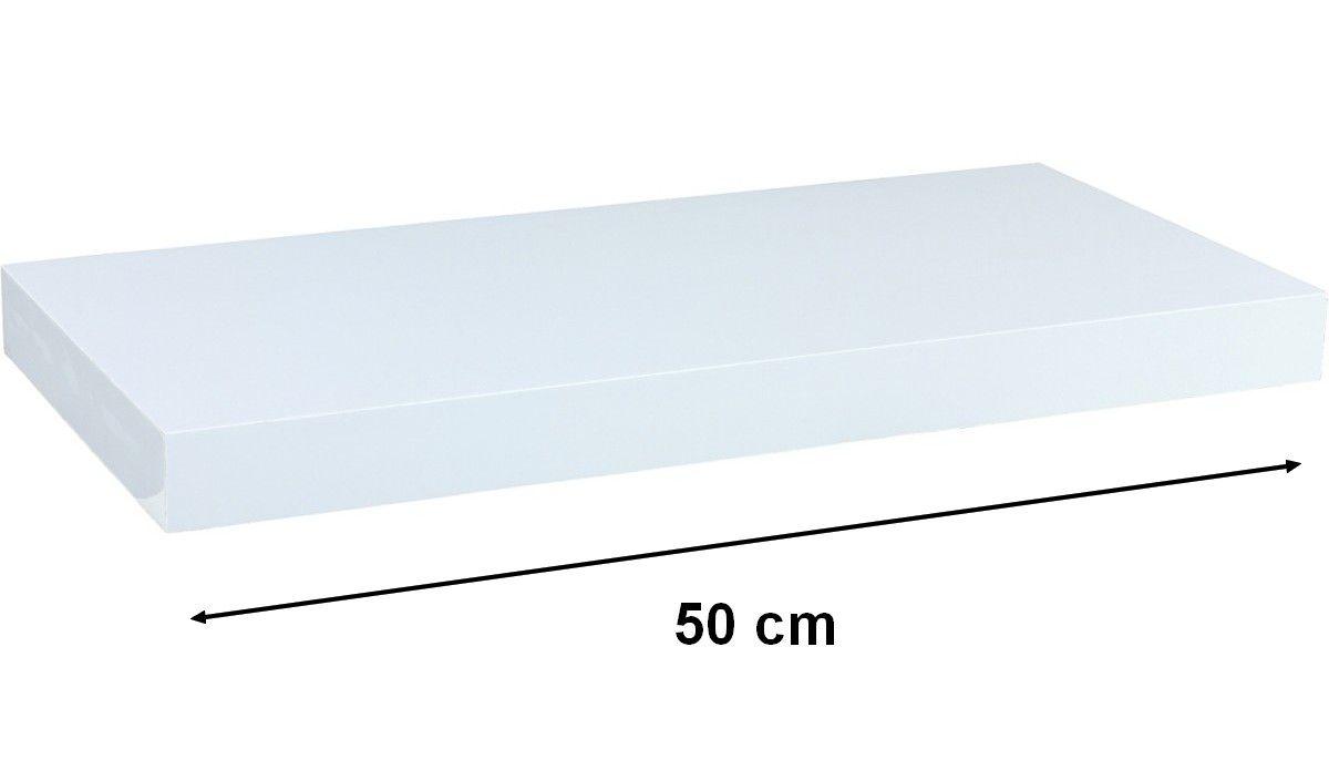 Nástenná polica STILISTA VOLATO - biela 50 cm