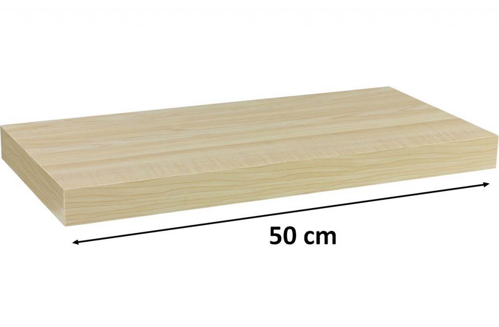 Nástenná polica STILISTA VOLATO - svetlé drevo 50 cm