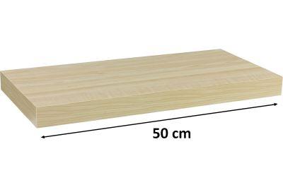 Nástěnná police STILISTA VOLATO - světlé dřevo 50 cm