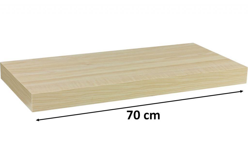 Nástenná polica STILISTA VOLATO - svetlé drevo 70 cm