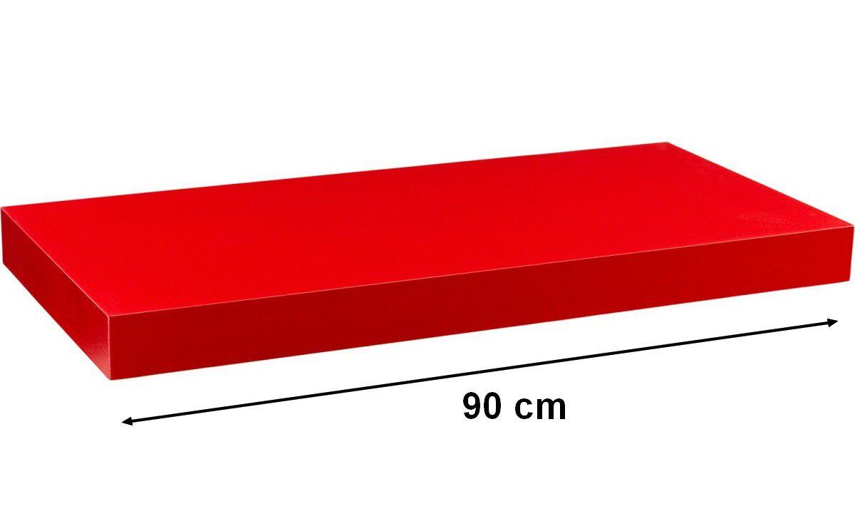Nástenná polica STILISTA VOLATO - červená 90 cm