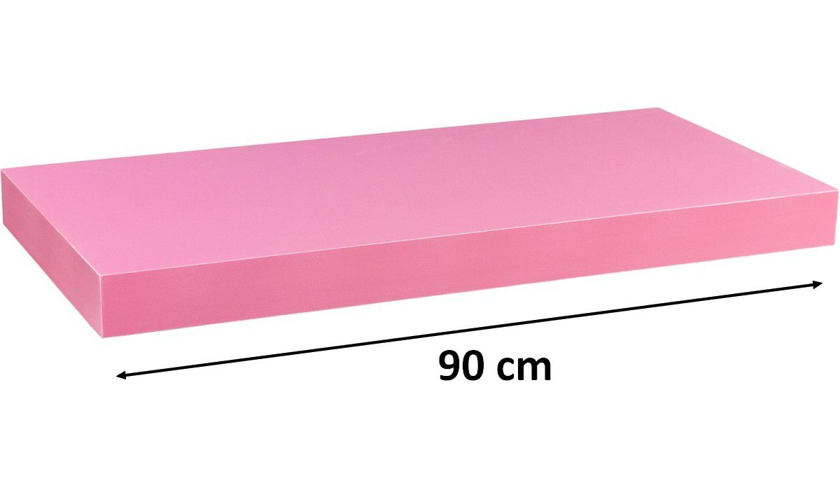 Nástěnná police STILISTA VOLATO - růžová 90 cm