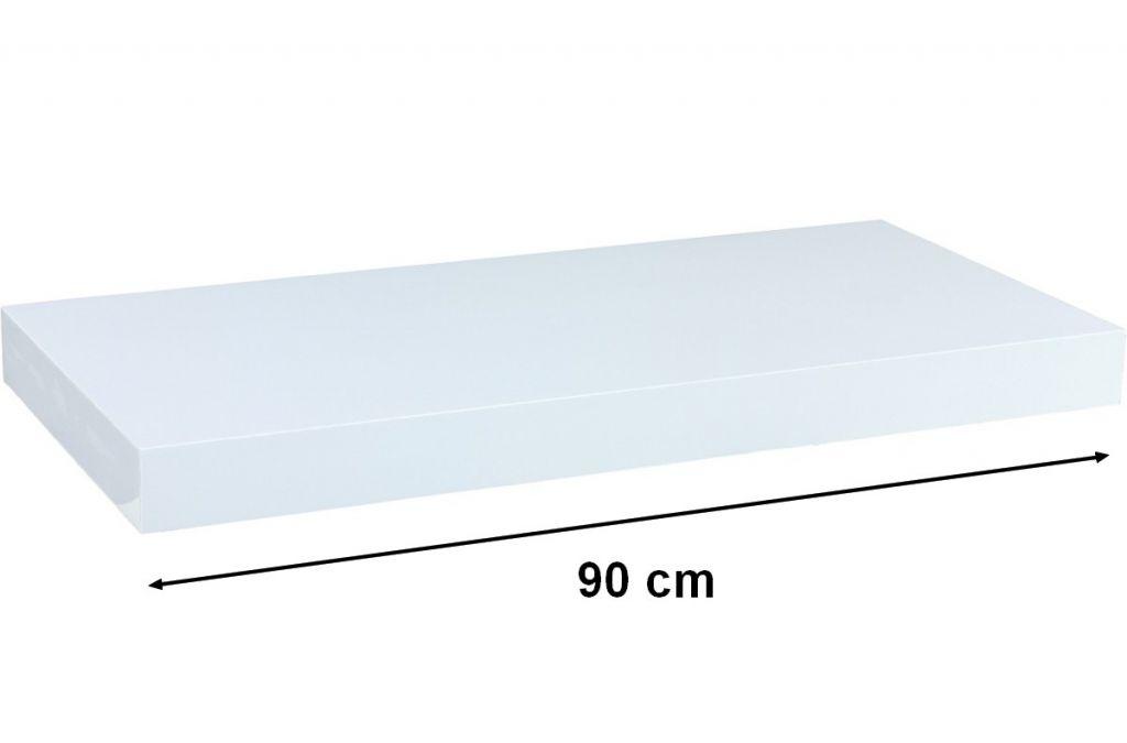 Nástenná polica STILISTA VOLATO - lesklá biela 90 cm