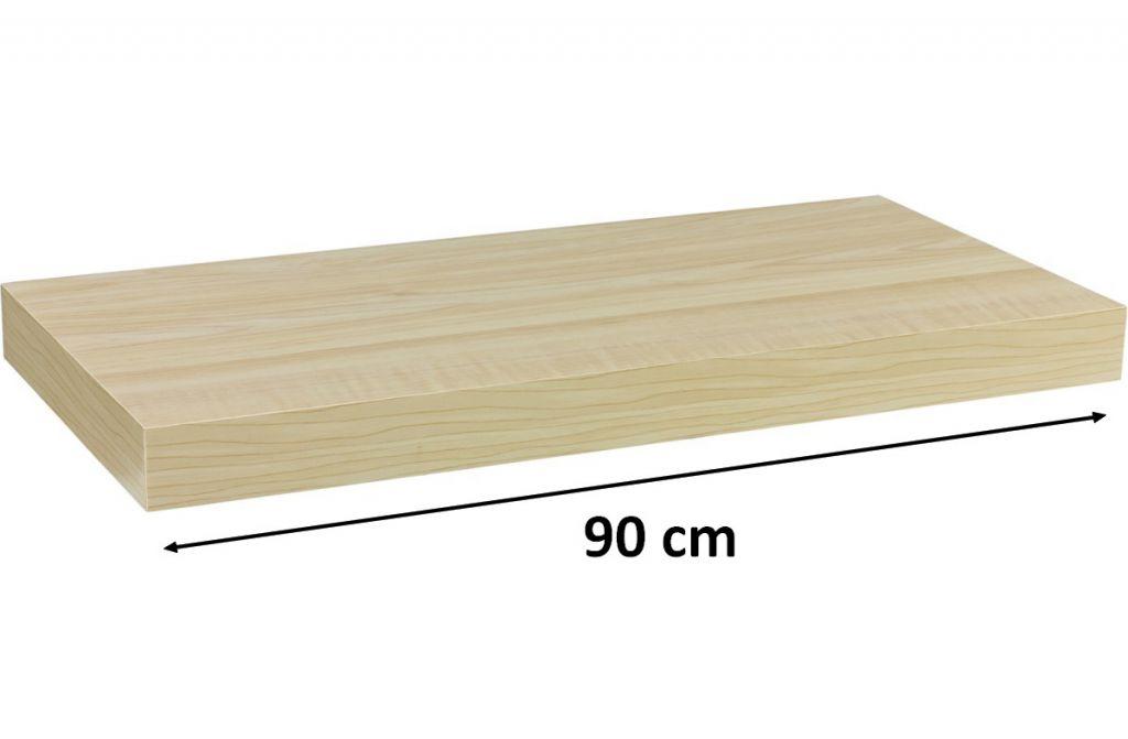 Nástenná polica STILISTA VOLATO - svetlé drevo 90 cm