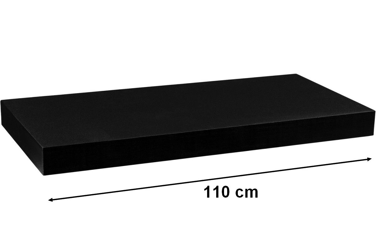 Nástěnná police STILISTA VOLATO - černá 110 cm