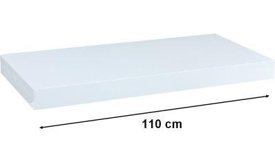 Nástěnná police STILISTA VOLATO - bílá 110 cm