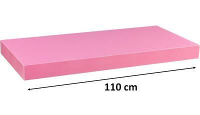 Nástěnná police STILISTA VOLATO - růžová 110 cm