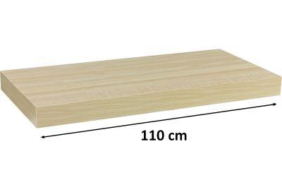 Nástěnná police STILISTA VOLATO - světlé dřevo 110 cm